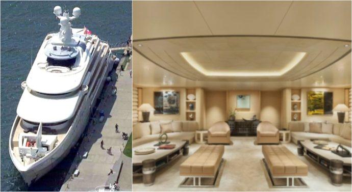 Супер-яхта в торонтском порту привлекла внимание прессы