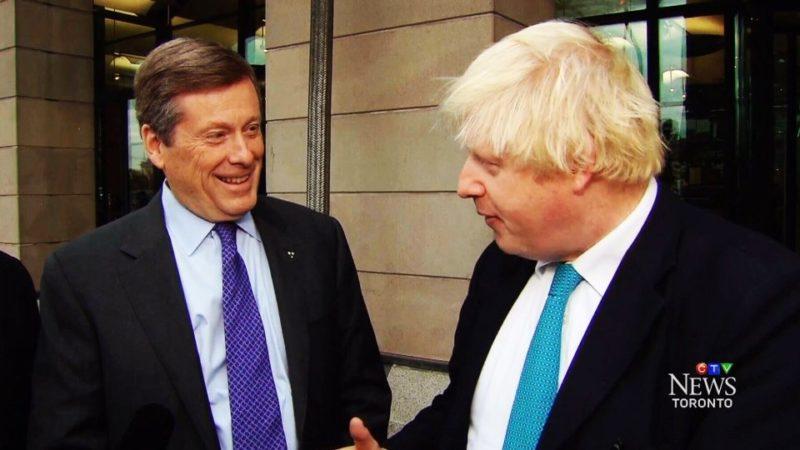 Мэр Торонто поздравил бывшего мэра Лондона с избранием премьер-министром Британии
