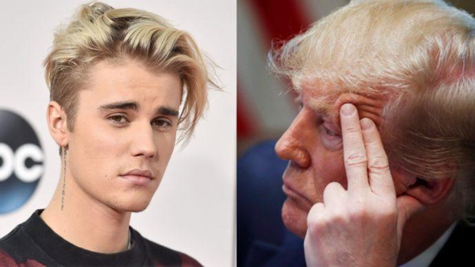 Джастин Бибер похвалил Трампа и покритиковал Трампа