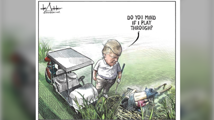 Канадец заявил, что потерял работу из-за карикатуры на Трампа