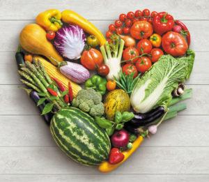 Vegetables diet concept