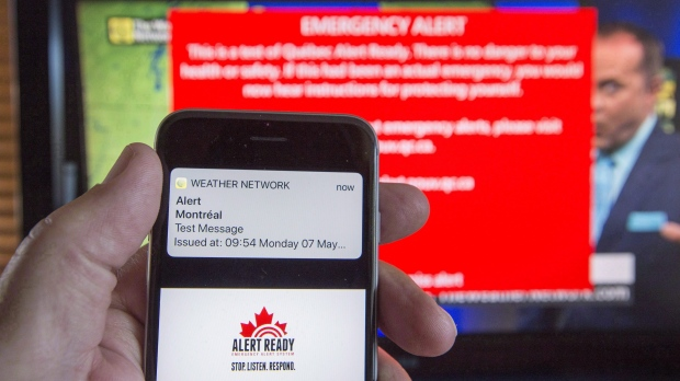 Тестирование системы тревоги в Канаде назначено на среду