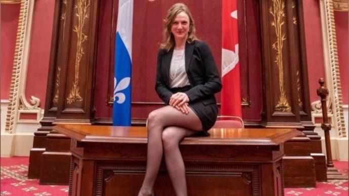 Сторонница «открытых браков» эпатирует парламент Квебека