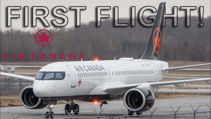 Разработанный Bombardier самолет принят на службу в Air Canada