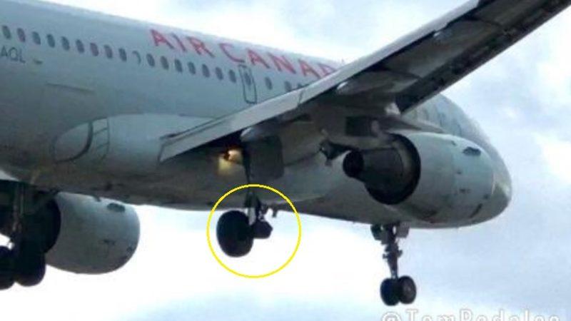 У канадского аэробуса в воздухе отвалилось колесо