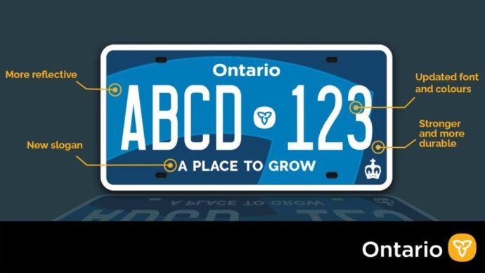 Новые номера в Онтарио: «цвет настроения синий»?