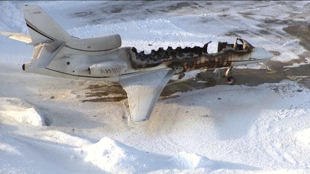 В пригороде Торонто сожгли самолет