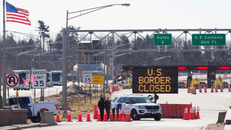 Граница между США и Канадой будет закрыта и в мае