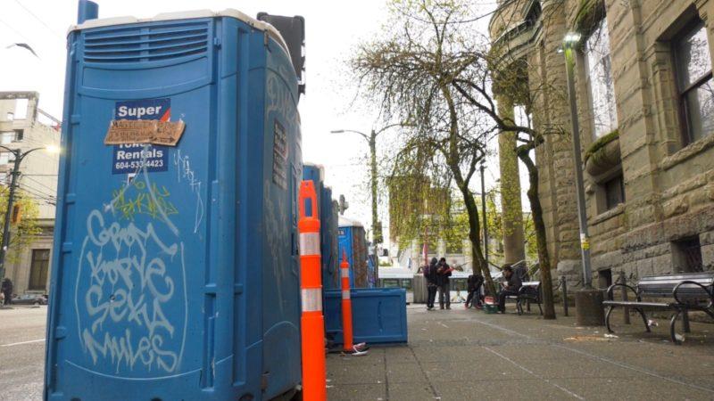 В портативном туалете в Ванкувере нашли мертвого младенца