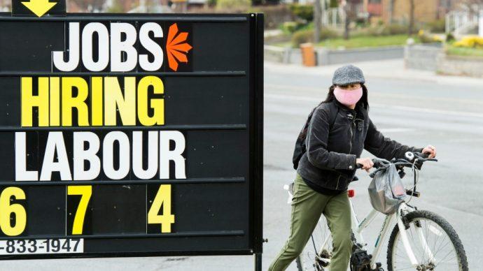 Рекордная безработица в Канаде