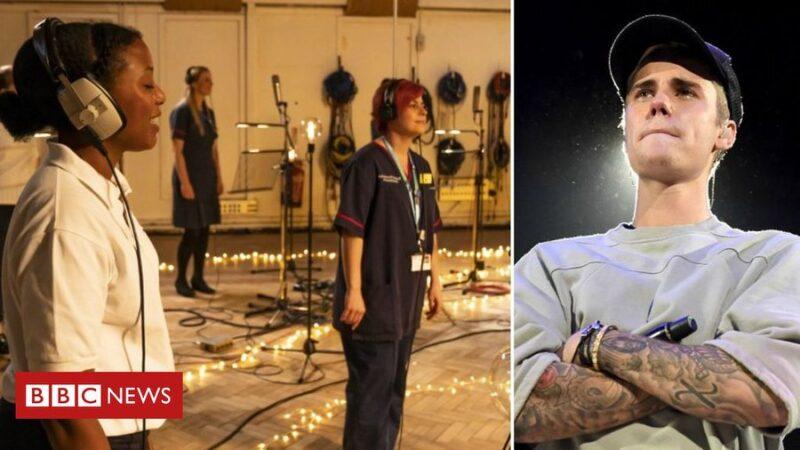 Канадская поп-звезда Бибер спел с британскими медиками