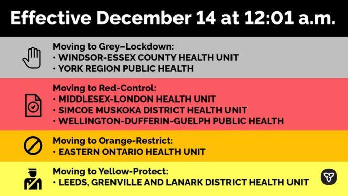 Еще два региона в Онтарио— в зоне локдауна