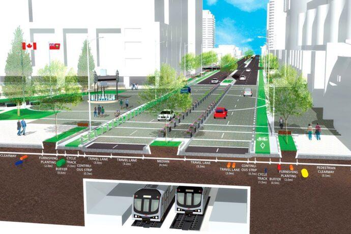Центральную улицу Торонто на севере ждут значительные переделки
