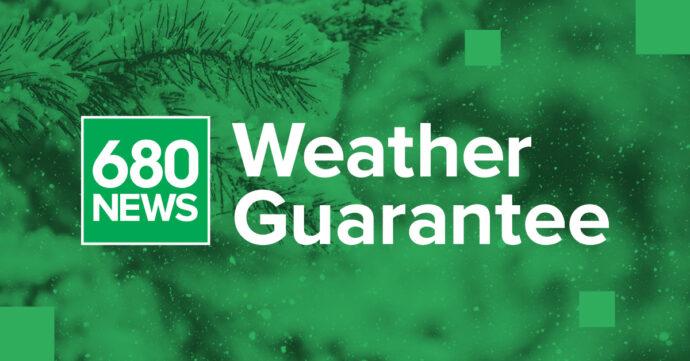 Джек-пот Weather Guarantee™ радиоканала 680News— $25 900