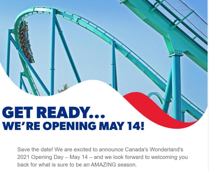 Покатаемся в масках! Парк Canada's Wonderland откроется в мае
