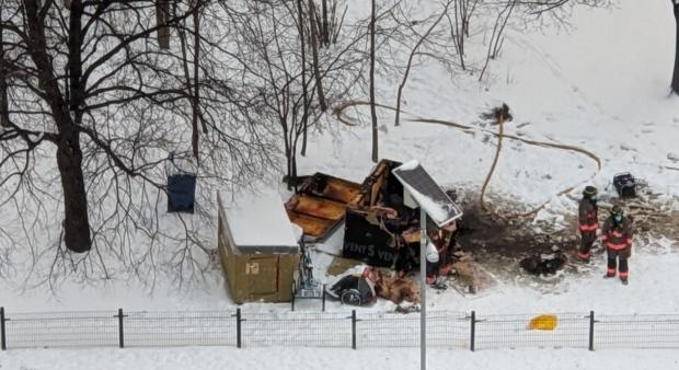 На пожаре в своем домике погиб бездомный