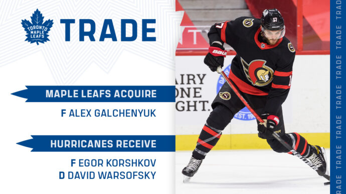 Toronto Maple Leafs получили Гальченюка