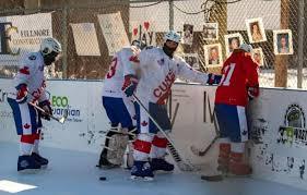 Канадская благотворительность: рекордный матч на морозе