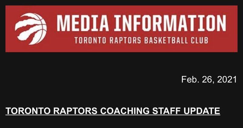 Тренерский штаб Toronto Raptors— на «больничном»