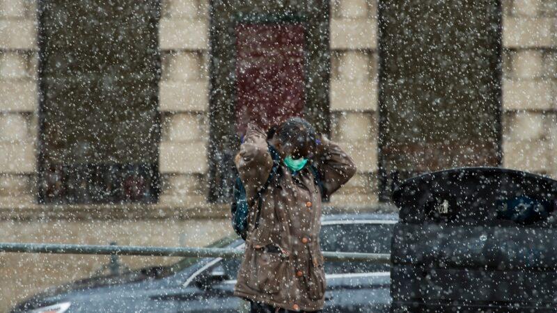 А вот теперь синоптики оказались правы: снегопад в Торонто
