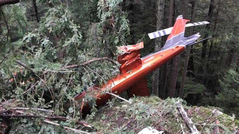 В Британской Колумбии упал вертолет. Пилоты спаслись