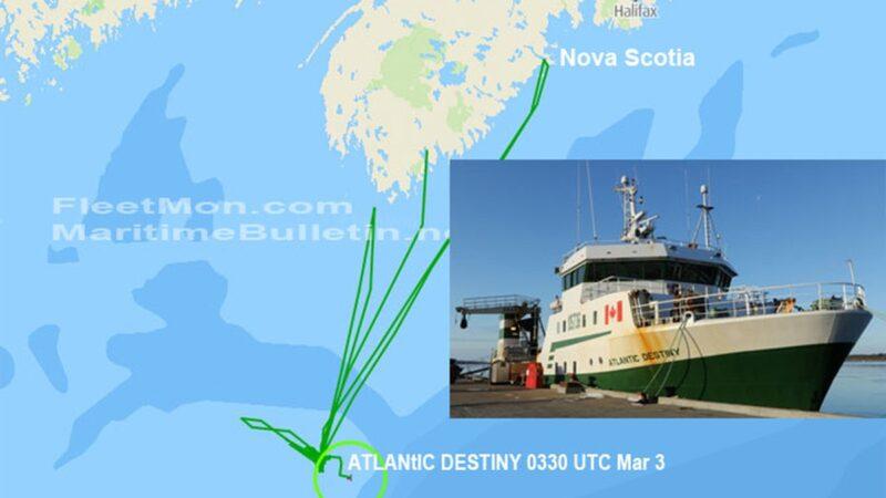 Ловцы морских гребешков спасены. Канадское судно затонуло